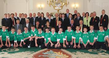 Ulster GAA visits Aras an Uachtarain