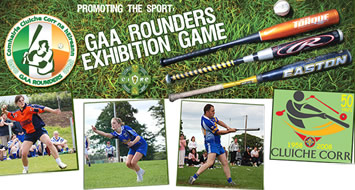 Irish Sports Stars play Rounders