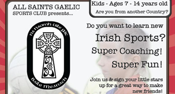 All Saints GAC benefit from Sport NI grant