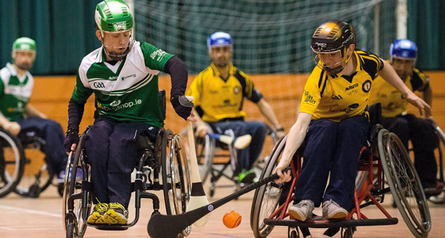 Ulster compete in Wheelchair Hurling