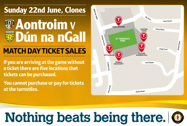Match Day Tickets - Clones Ant v Don