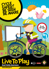 Live to Play Cycle Safe Poster