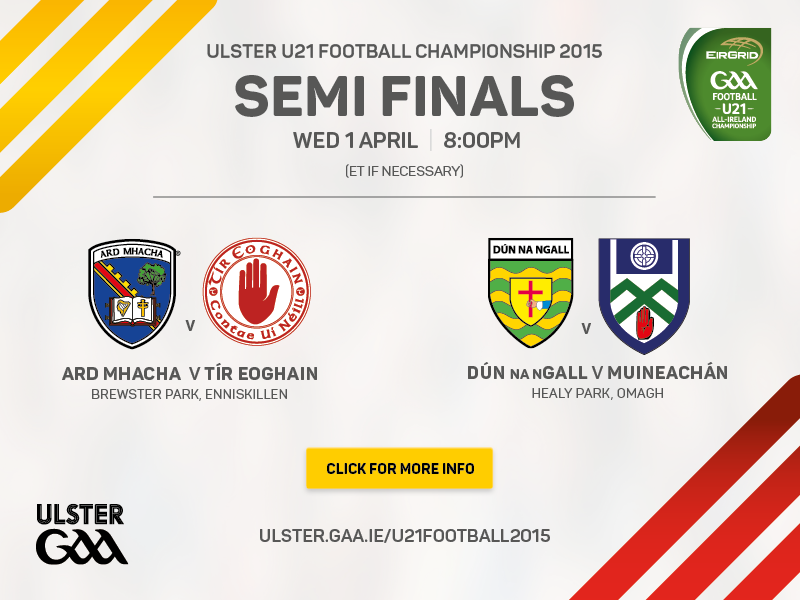 Ulster Under 21 Football Championship 2015 Semi Finals