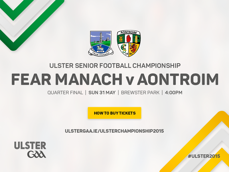 Fermanagh v Antrim Ulster Senior Football Championship 2015 Quarter Final