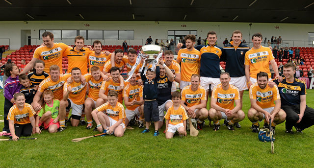 Antrim hurlers do the double