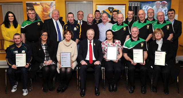 Clubs awarded with Club Maith Certificates
