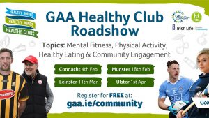 GAA Healthy Clubs Roadshow – Final Chance to Register