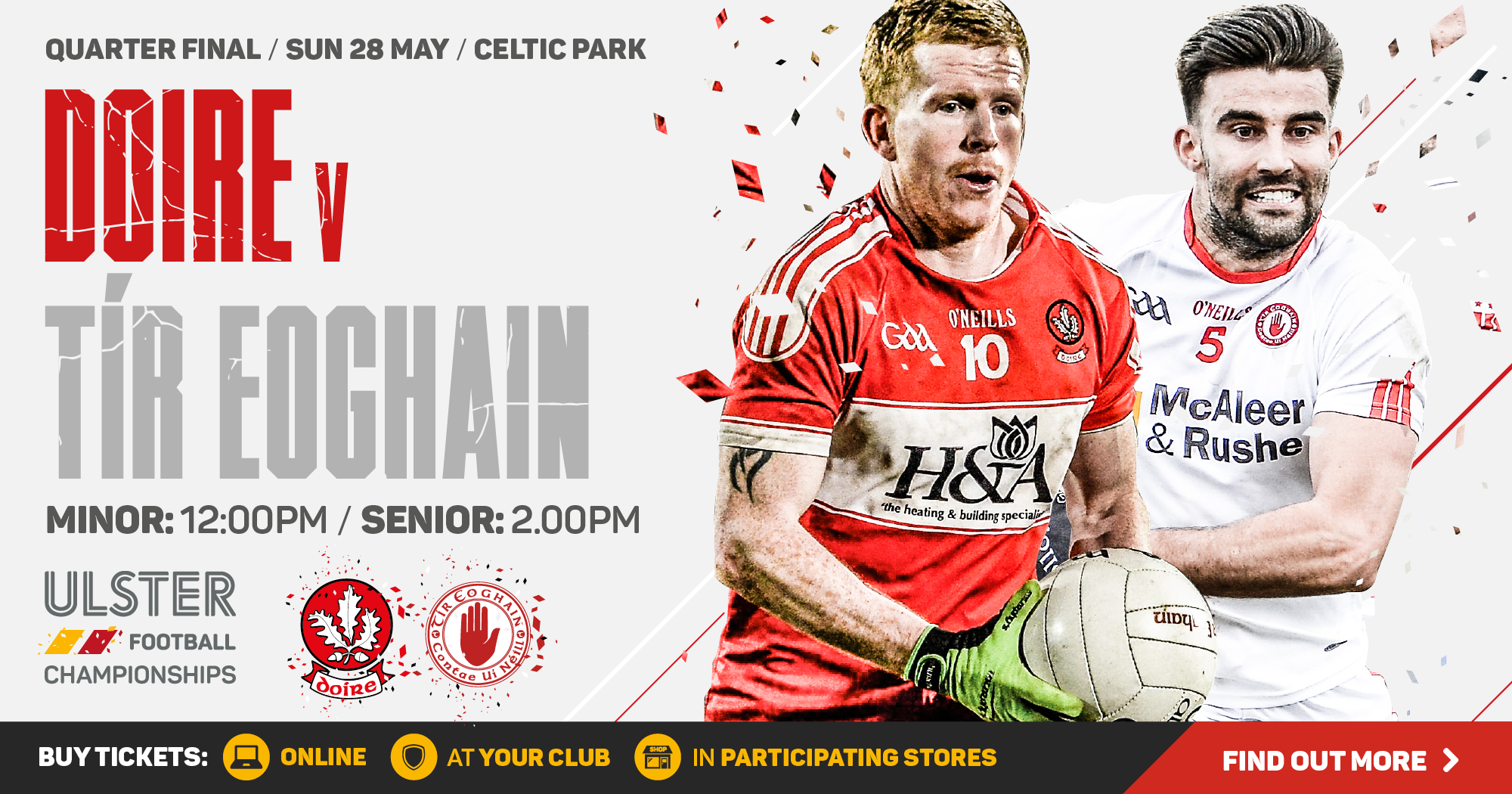 Ulster Senior Football Championship - Derry v Tyrone