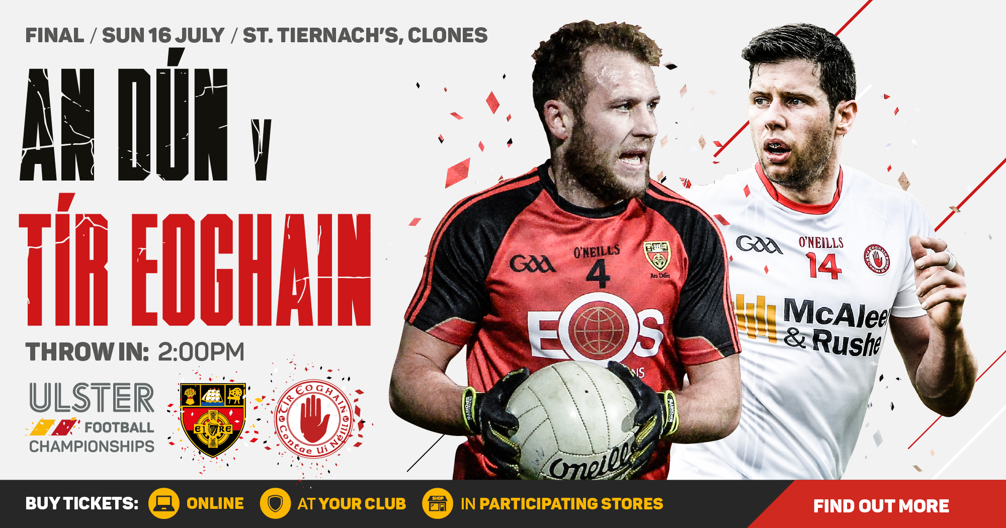 Ulster Senior Football Championship - Down v Tyrone