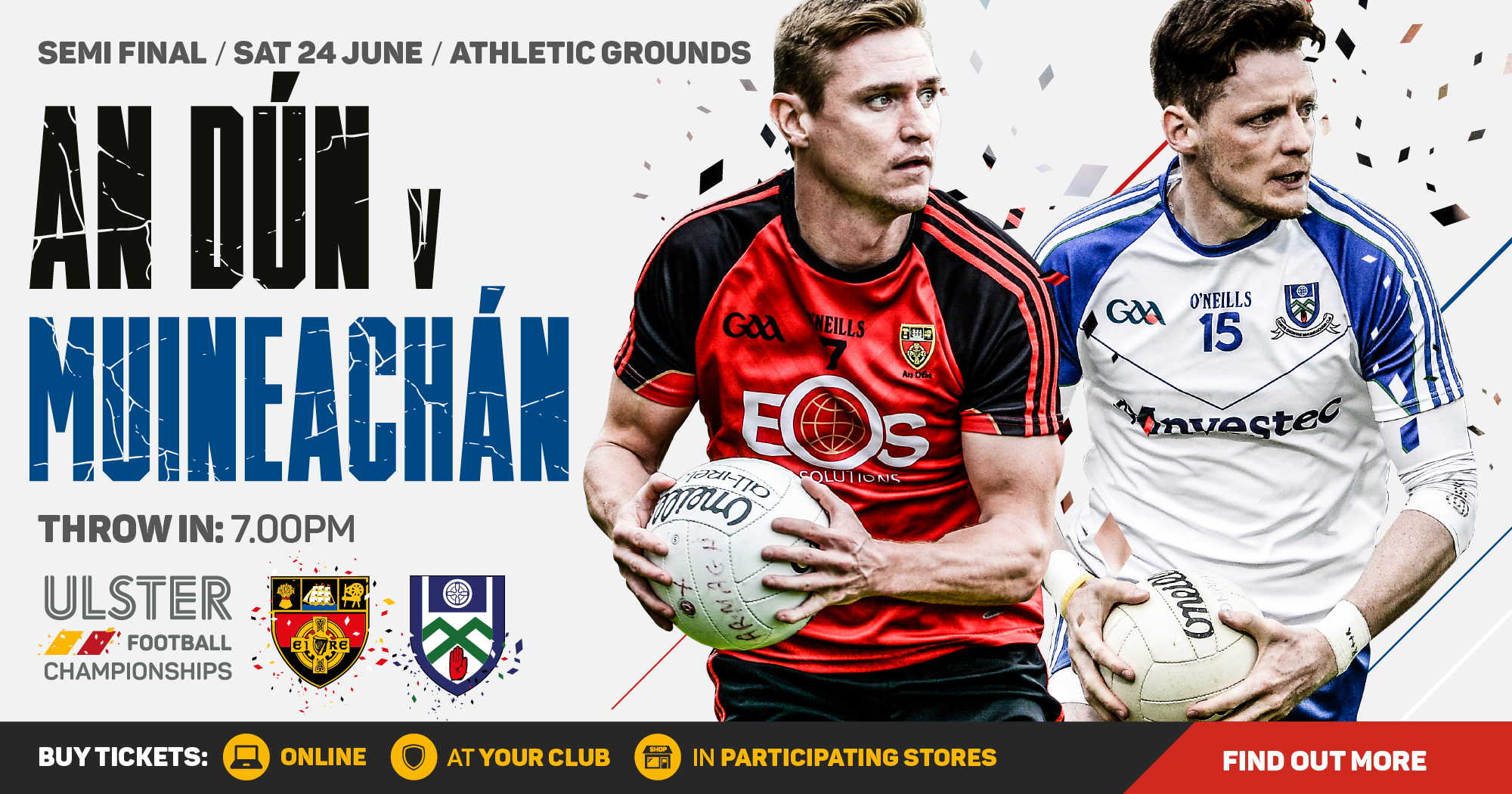 Ulster Senior Football Championship - Down v Monaghan