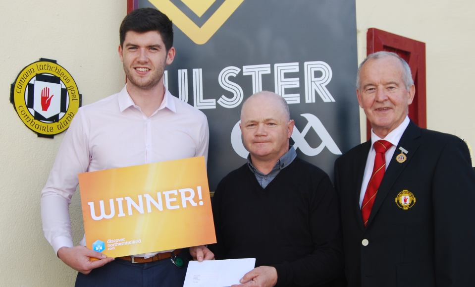 Golden ticket giveaway for lucky supporter at Ulster Final