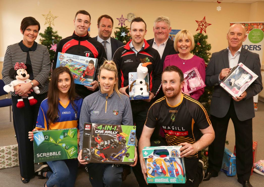 Antrim GAA put their best foot, and shoebox, forward in support of SVP