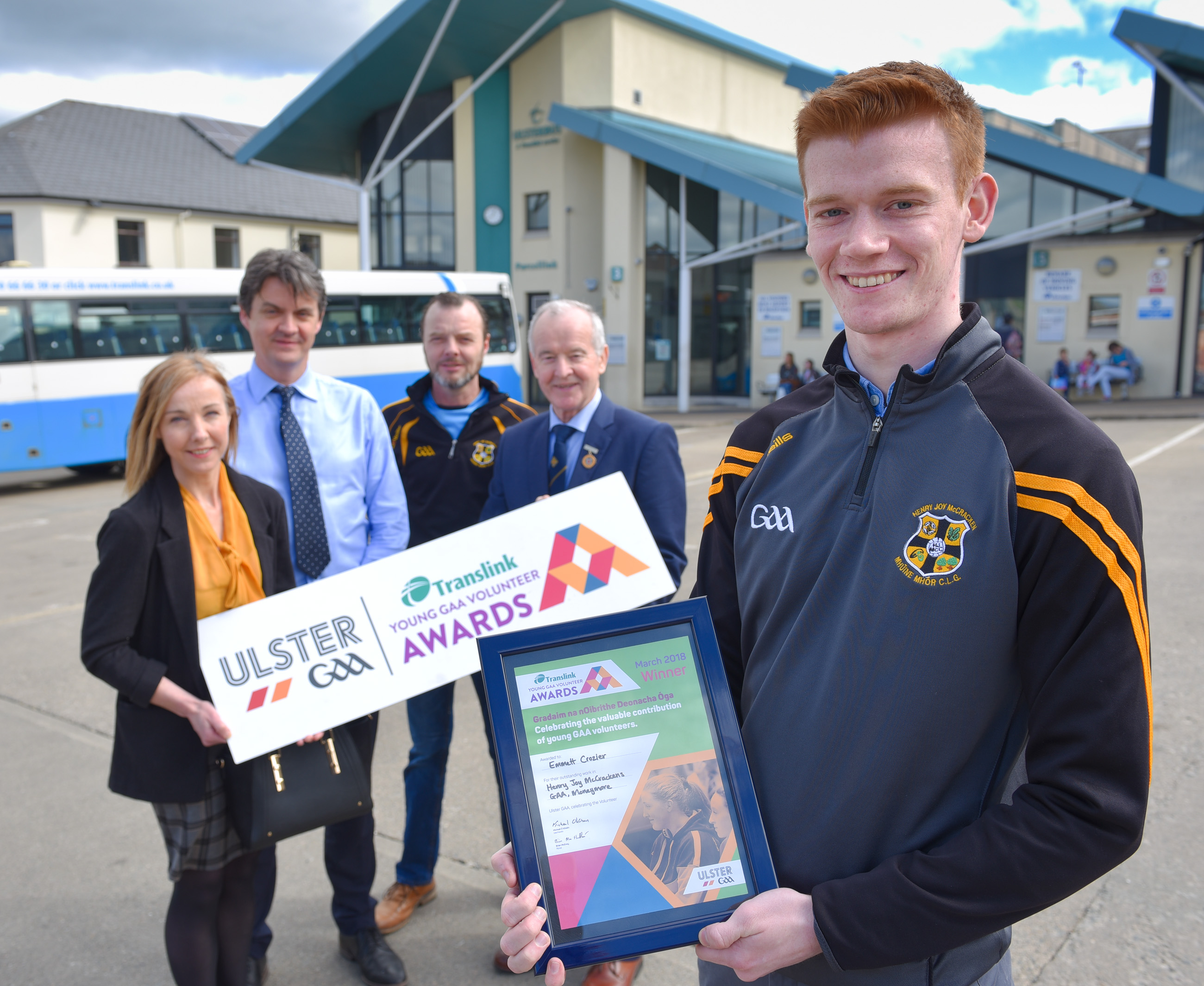 Young Moneymore Coach is Translink Ulster GAA Young Volunteer of the Month