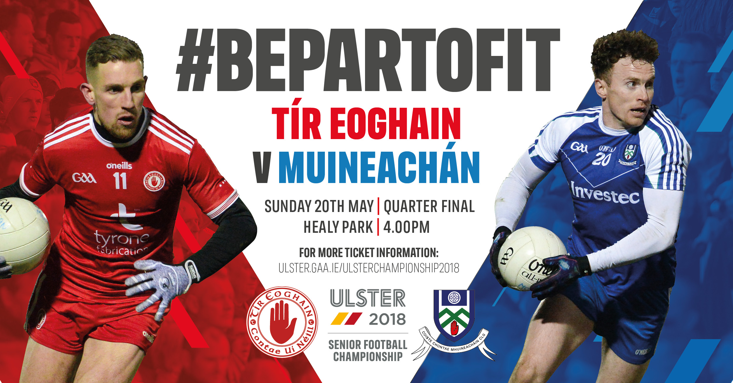 Tyrone v Monaghan Match Day Information