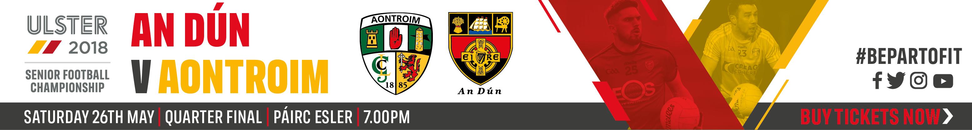 Ulster Senior Championship QF - Down v Antrim