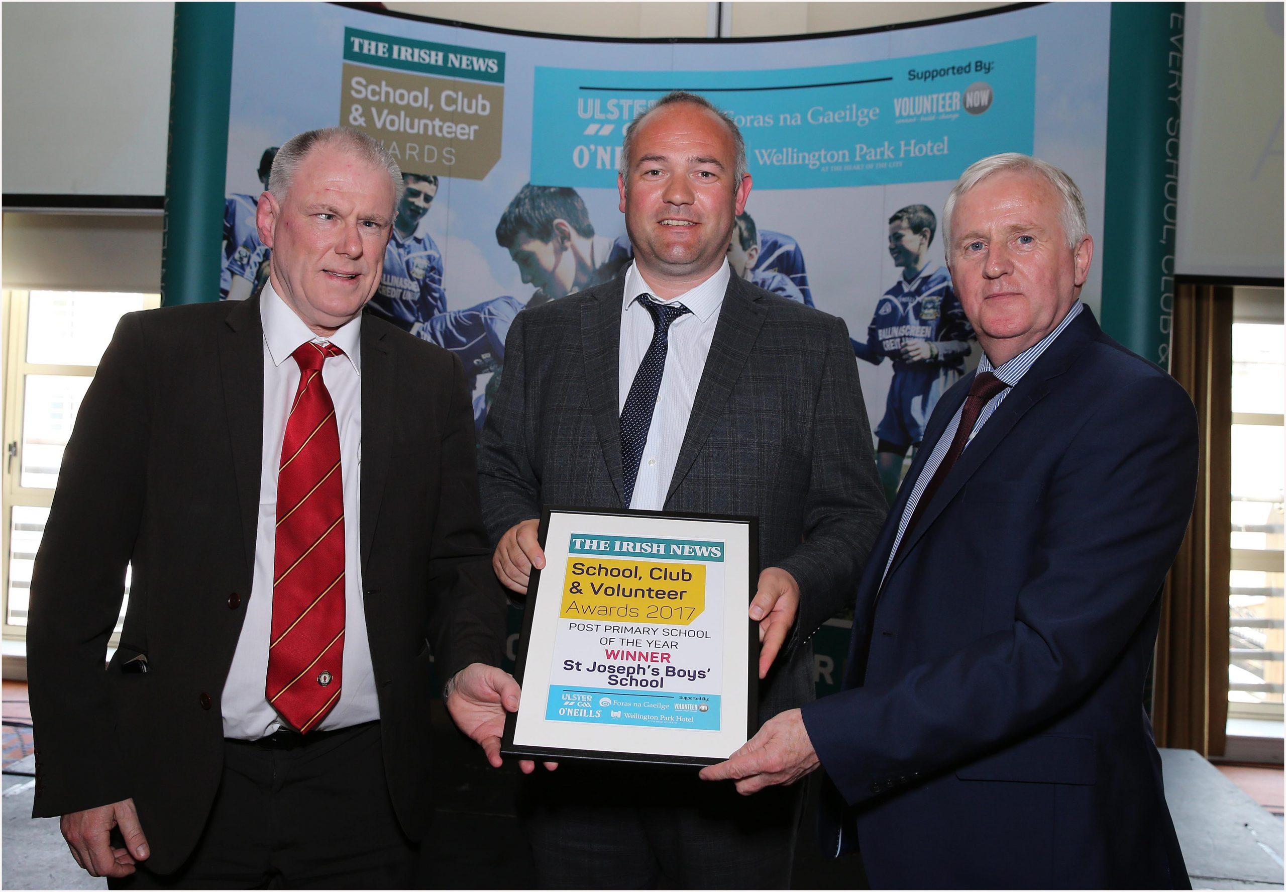 The Irish News Club & Volunteer Awards Winners 2017