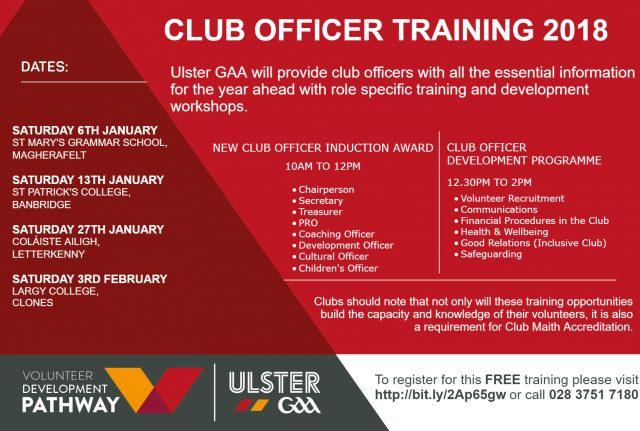 Ulster GAA Club Officer Training 2018 | Cumann Lúthchleas