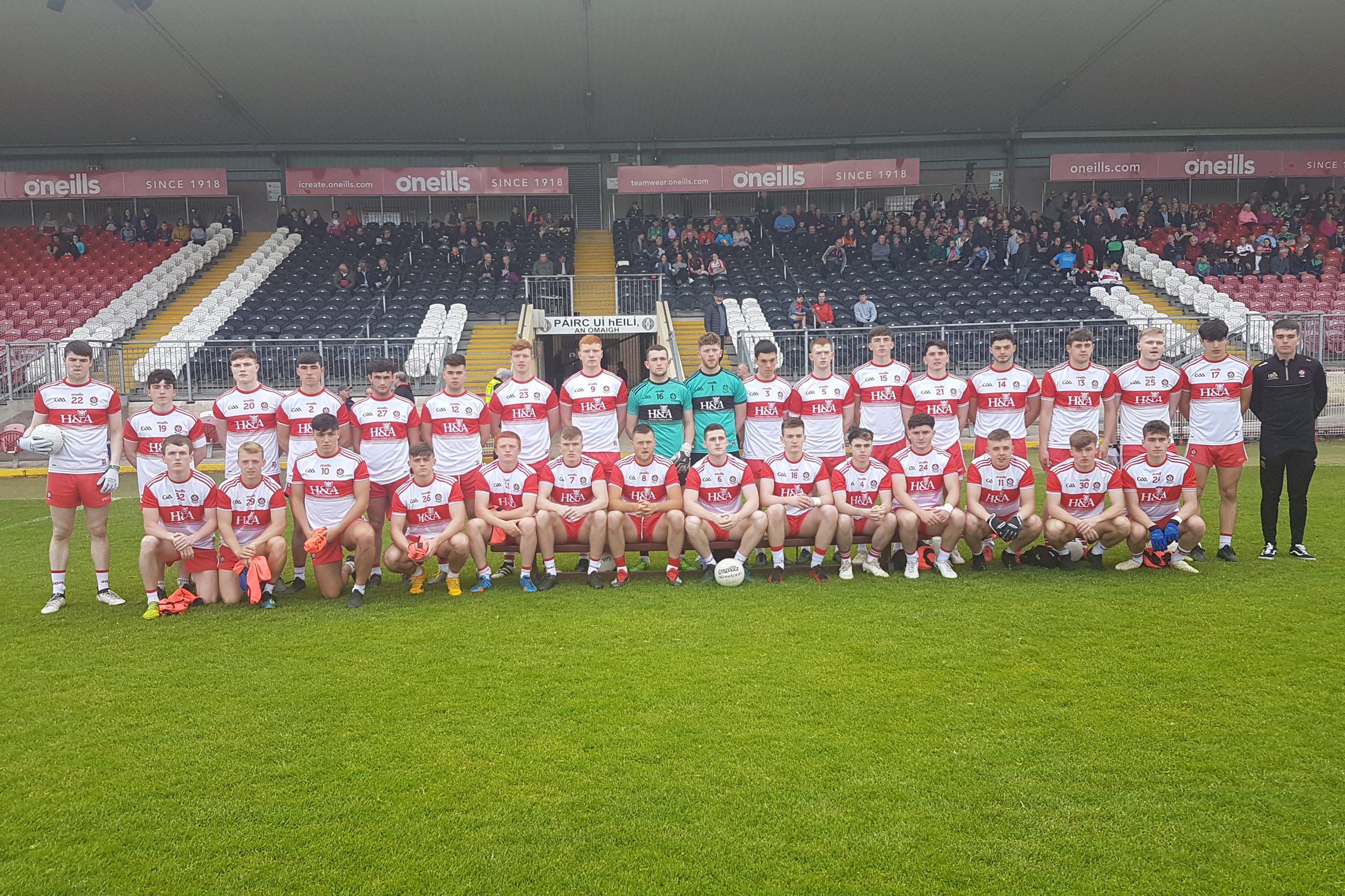 Derry advance to EirGrid Ulster Under 20 final