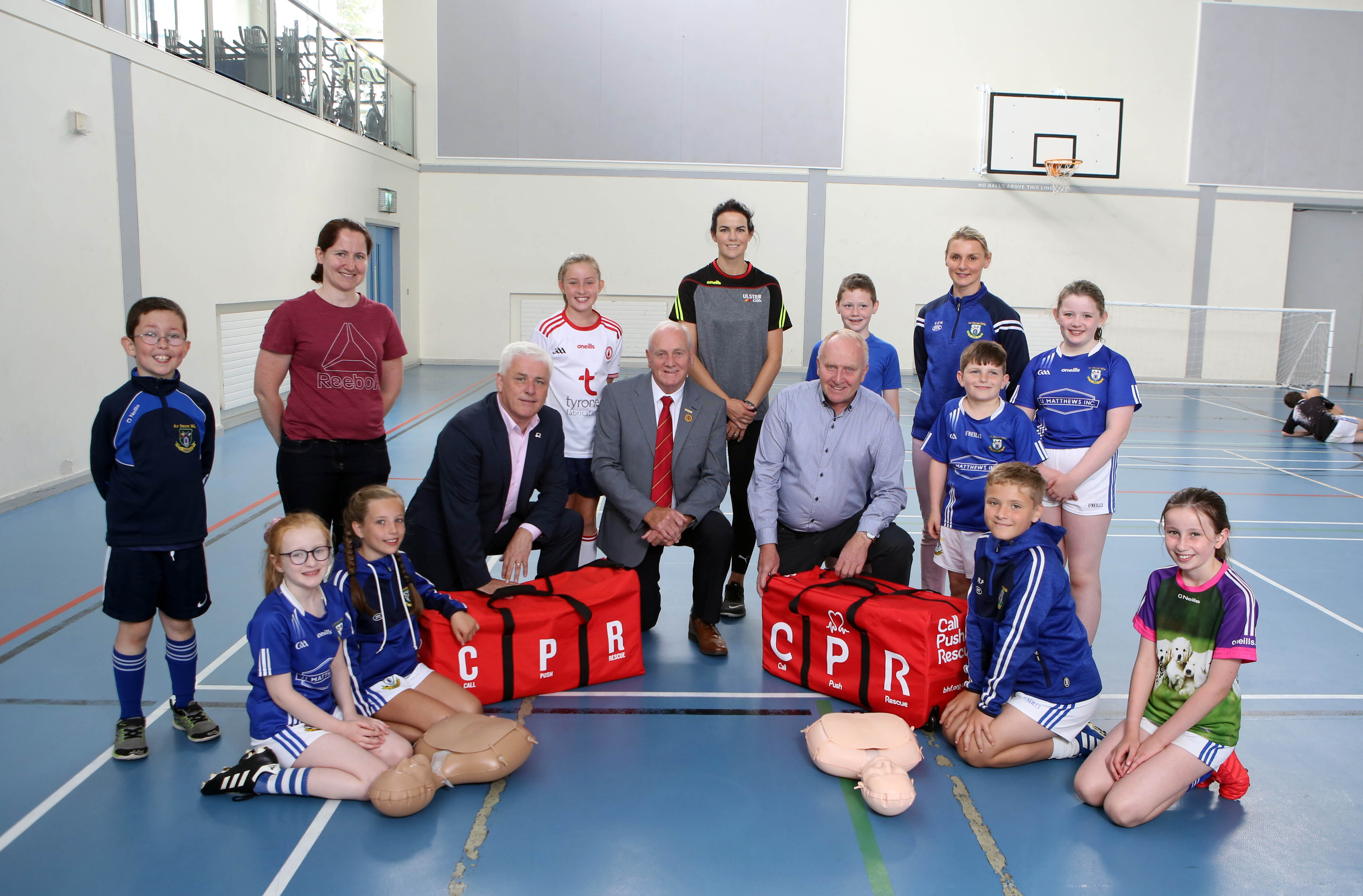 Young Tyrone Gaels learn the skills to save a life thanks to British Heart Foundation NI