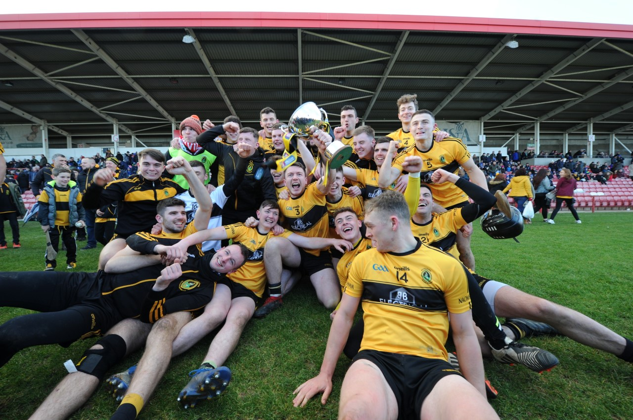 Naomh Éanna are the AIB Ulster Hurling Intermediate Club Champions