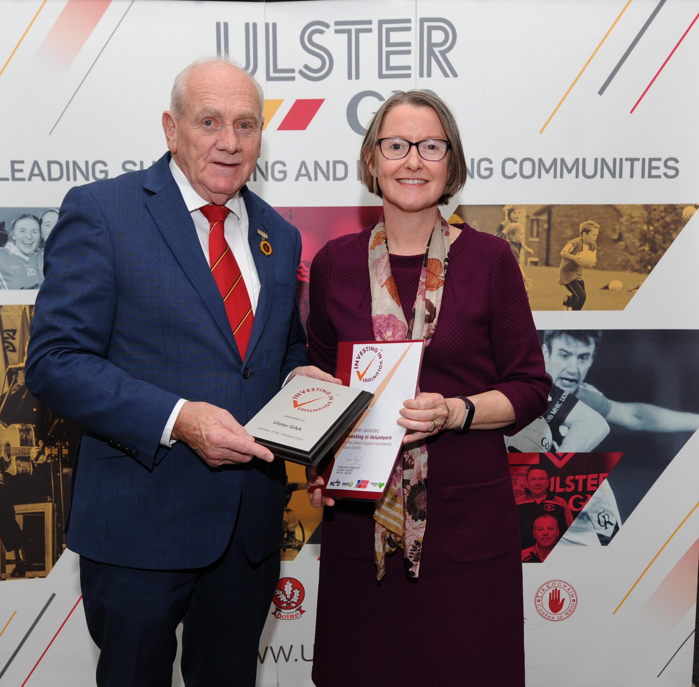 Ulster GAA achieve Investing in Volunteers Standard