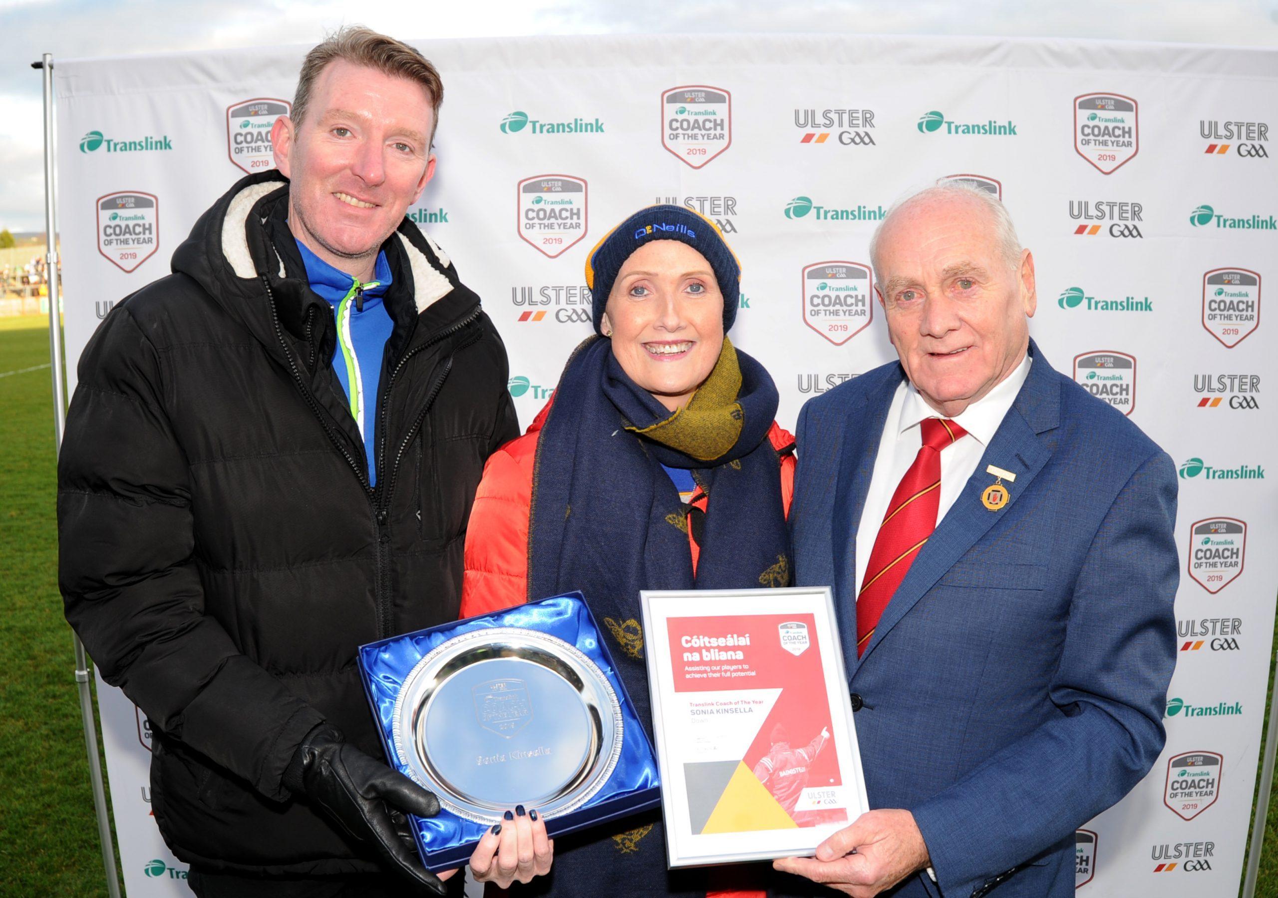Saul clubwoman wins Translink Ulster GAA Coach of the Year award