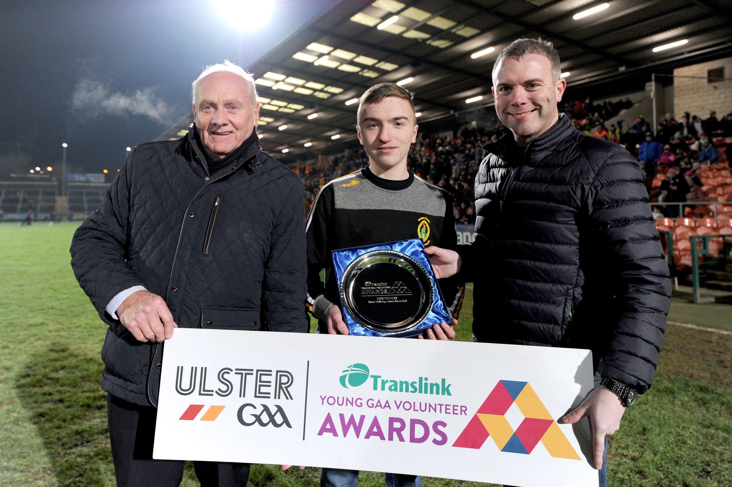 Dedicated Naomh Éanna Player awarded Young GAA Volunteer of Year
