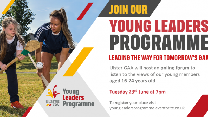 Leading the way for tomorrow's GAA – Online Youth Forum 2020