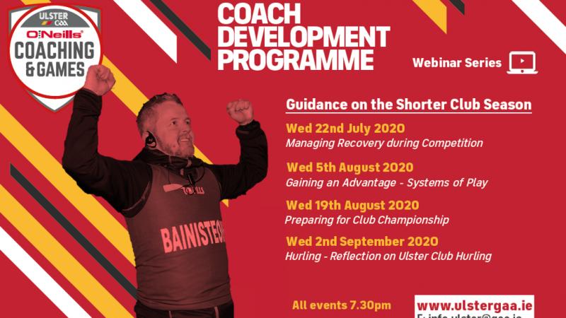 Coach Development Programe – Club Championship Webinar Series