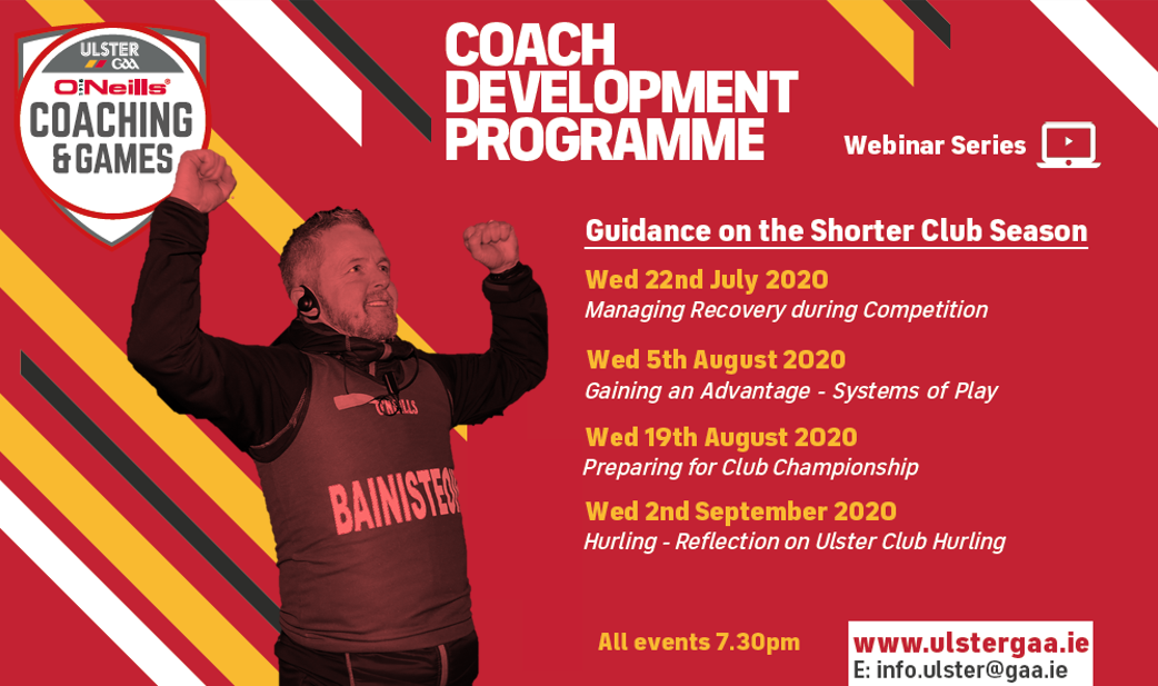 Coach Development Programe – Club Championship Webinar Series