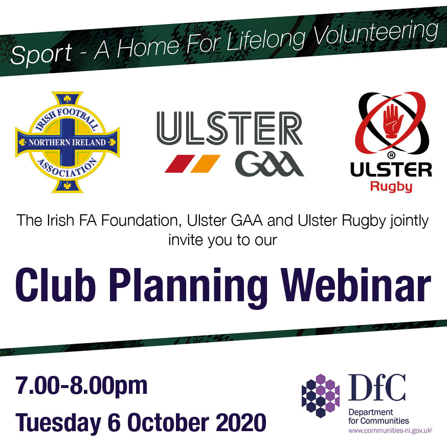 Ulster GAA team up with Irish FA and Ulster Rugby for Club Planning Webinar