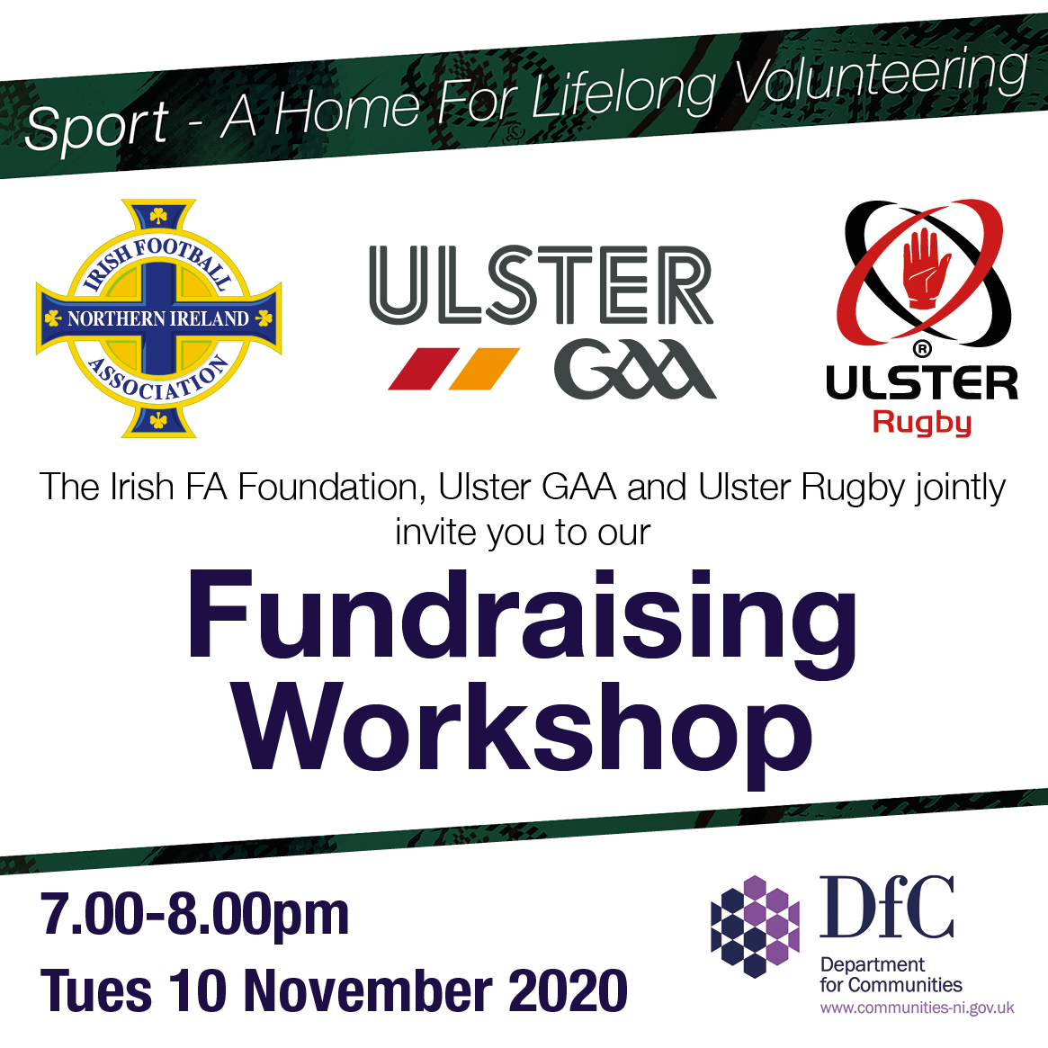 Ulster GAA  to host Club Fundraising Webinar alongside Irish FA and Ulster Rugby