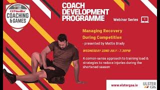 Coach Development Programme Webinar Series 2020