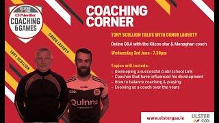 Coaching Corner Webinars - with Tony Scullion