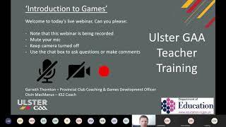 Ulster GAA Online Teacher Training