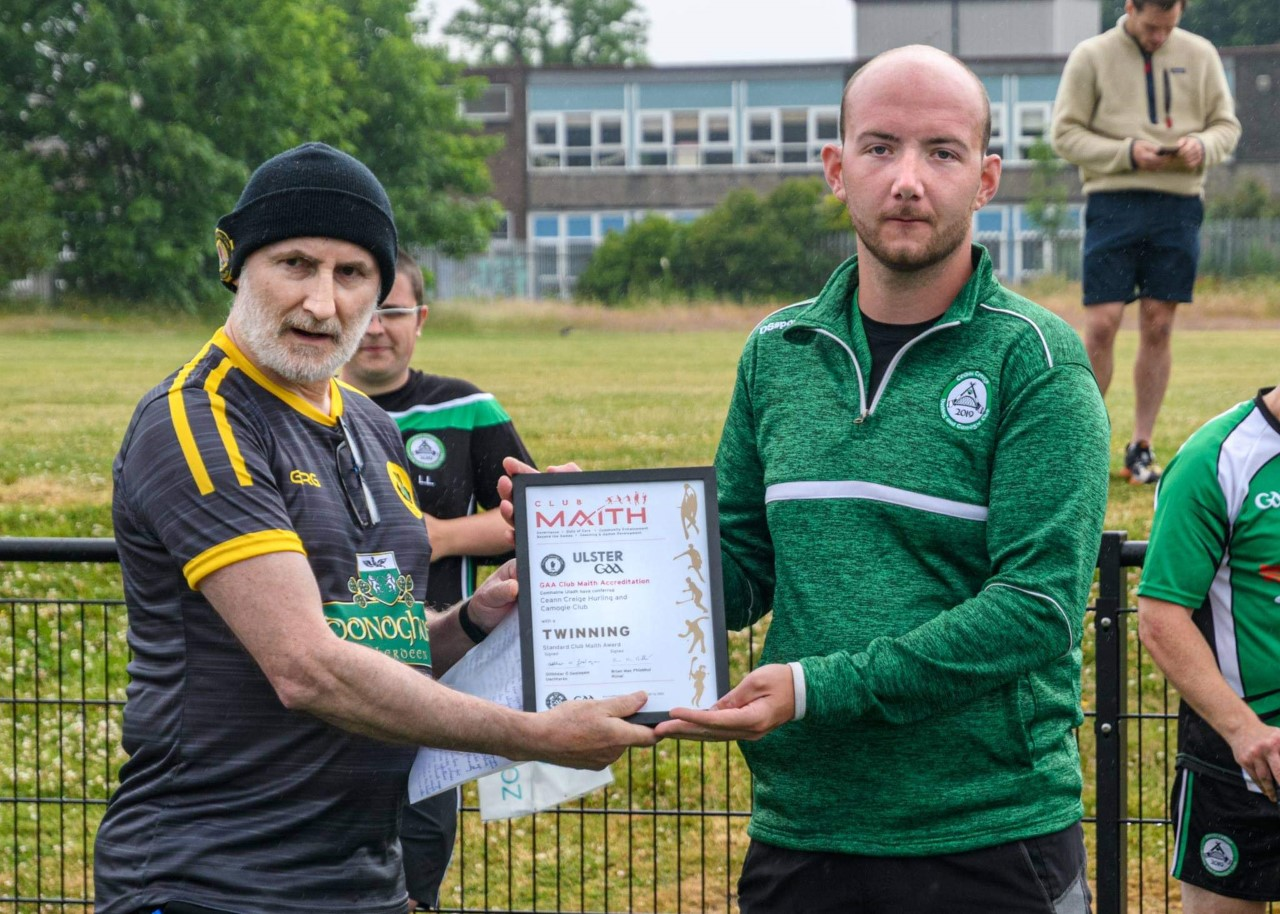 First club outside of Ulster achieves Club Maith accreditation