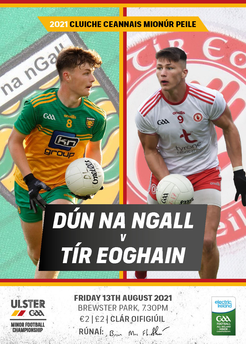 Download the 2021 Electric Ireland Ulster MFC Final Digital Programme