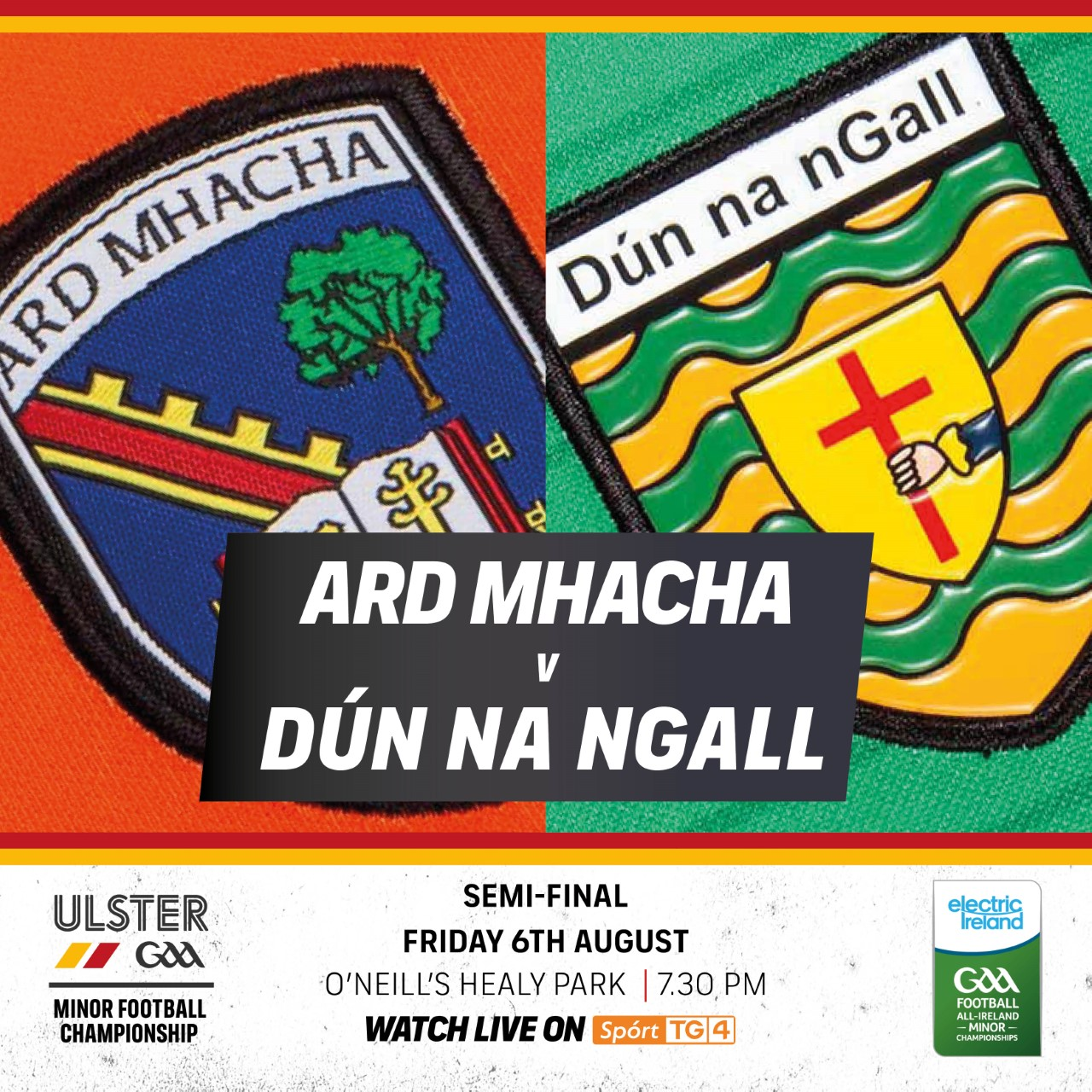 Electric Ireland Ulster Minor Football Championship Semi Final: Armagh v Donegal