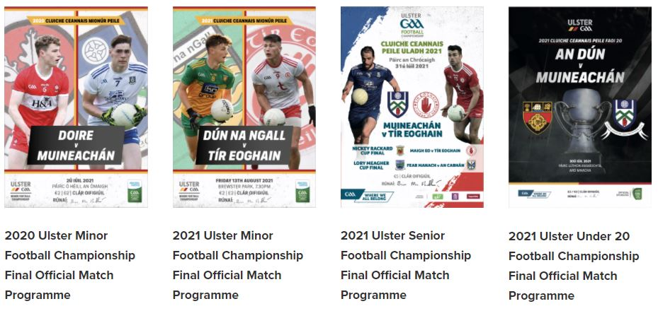Ulster Championship Finals Official Match Programmes now available to purchase